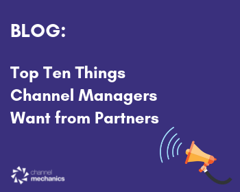 Channel Managers Wish List