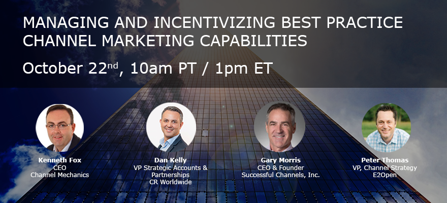Managing and Incentivizing Best Practice Channel Marketing Capabilities - Channel Mechanics
